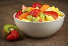 jedzenia winogron owocowy pomarańczy wegetarianin porcelanowa sałatkę Obraz Royalty Free