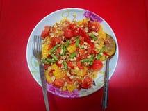 jedzenia winogron owocowy pomarańczy wegetarianin porcelanowa sałatkę Zdjęcia Stock