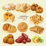 jedzenie arabskiego Set Wschodni desery Zdjęcie Royalty Free