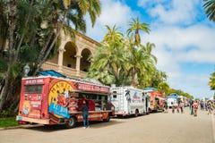 Jedzenie ciężarowy dzień w pięknym i dziejowym balboa parku Obraz Royalty Free