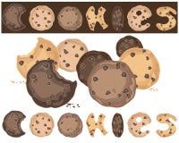 jedzenie ciastek tło szeregu Obrazy Stock
