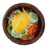 Jedzenie dla heathy stylu życia z sałatką na białym tle Obraz Stock