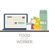 Jedzenie Dla pracownika Zdrowego Karmowego pojęcia Fotografia Royalty Free