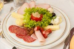 Jedzenie dla restauraci Fotografia Royalty Free