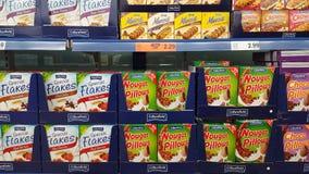 Jedzenie dla sprzedaży dla śniadania Obraz Stock
