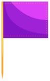 Jedzenie flaga w purpura kolorze ilustracja wektor