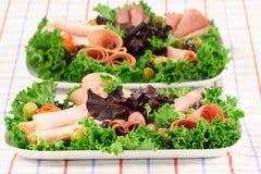 jedzenie gastronomicznych platter Zdjęcie Royalty Free