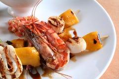 jedzenie gril morza Obraz Royalty Free