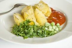 Jedzenie, grula je, horyzontalny, warzywa, warzywo, garnirunek Obrazy Stock
