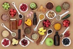 Jedzenie i medycyna dla Zimnego remedium zdjęcie royalty free