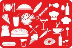 Jedzenie i napój ilustracji