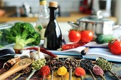 Jedzenie i pikantność fotografia stock
