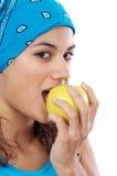 jedzenie jabłczana kobieta fotografia royalty free