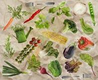 Jedzenie jarski ogórek background Fotografia Stock