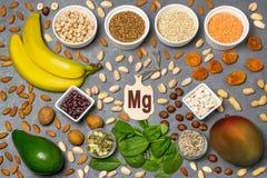Jedzenie jest źródłem magnezu Mg Fotografia Royalty Free
