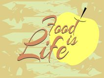 Jedzenie jest życiem w Angielskim royalty ilustracja