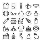 Jedzenie Juczne ikony royalty ilustracja