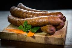 Jedzenie, kiełbasa, mięso Fotografia Stock