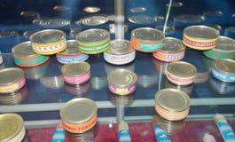 Jedzenie konserwuje w bankach Zdjęcia Stock