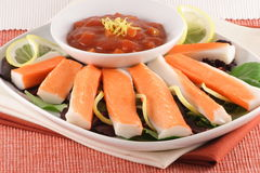 jedzenie krabów palec Zdjęcie Stock