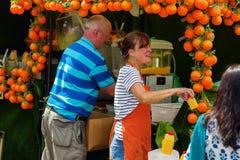 Jedzenie kram przy Camden rynkiem, Londyn, UK Fotografia Stock