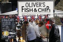 Jedzenie kram w Camden rynku Zdjęcie Royalty Free