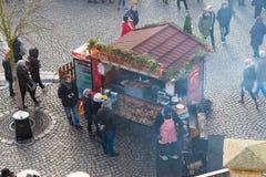 Jedzenie kram w Prague Fotografia Royalty Free