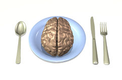 jedzenie mózgu ilustracja wektor