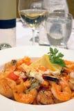 jedzenie makaronu morza Fotografia Stock