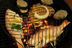 Jedzenie na grillu Obrazy Royalty Free