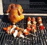 Jedzenie na grillu w lecie zdjęcie stock