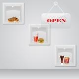 Jedzenie na pokazie Ilustracji