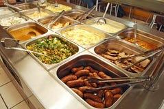 Jedzenie na pokazie na restauraci obraz royalty free