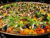 Jedzenie. Paella. Hiszpański jedzenie. Wakacje. Zdjęcie Royalty Free