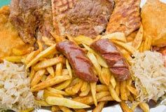 jedzenie piec na grillu Zdjęcie Royalty Free