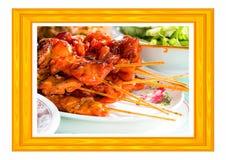 Jedzenie, piec na grillu kurczak obrazy royalty free