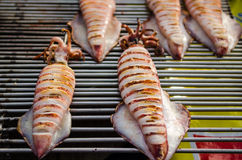 jedzenie piec na grillu morze Zdjęcie Stock