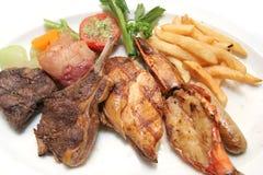 jedzenie piec na grillu rodzaj Fotografia Stock