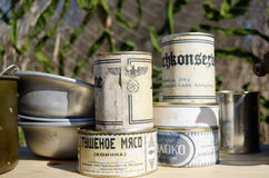 Jedzenie podczas wojny Obrazy Royalty Free