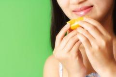 jedzenie pomarańcze Fotografia Royalty Free