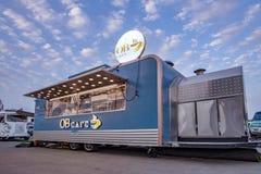 Jedzenie porcji ciężarowa kawa, Abu Dhabi obrazy royalty free