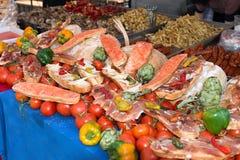 Jedzenie przygotowany tradycyjny rynek fotografia royalty free