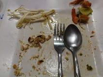 Jedzenie pusty Zdjęcie Stock