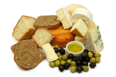 jedzenie śródziemnomorski Zdjęcie Stock