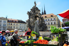 Jedzenie rynek. Republika Czech Fotografia Stock