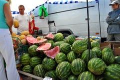 Jedzenie rynek w Chortkiv_3 Obraz Royalty Free
