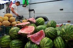 Jedzenie rynek w Chortkiv_4 Zdjęcia Stock