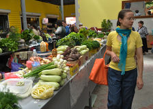Jedzenie rynek w Chortkiv_10 Zdjęcia Stock