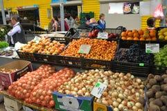Jedzenie rynek w Chortkiv_11 Fotografia Royalty Free