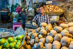 Jedzenie rynek w Shiraz fotografia royalty free